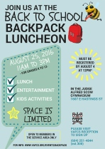 Back to School Back Pack Luncheon - FINAL